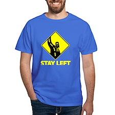 Stay Left Black T-Shirt
