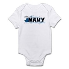 Boyfriend Combat Boots - NAVY Infant Bodysuit