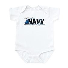 Aunt Combat Boots - NAVY Infant Bodysuit