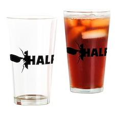 Cute Fly half Drinking Glass
