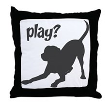 play? Labrador Throw Pillow
