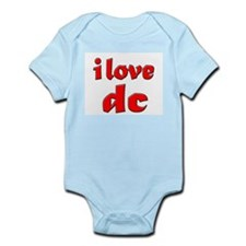 I Love DC (red) Infant Creeper