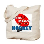 Eat Sleep Play Hockey Tote Bag