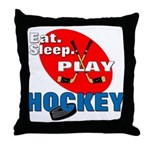 Eat Sleep Play Hockey Throw Pillow