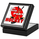 Eat Sleep Play Hockey Keepsake Box