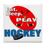 Eat Sleep Play Hockey Tile Coaster