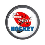 Eat Sleep Play Hockey Wall Clock
