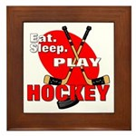 Eat Sleep Play Hockey Framed Tile