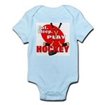 Eat Sleep Play Hockey Infant Creeper