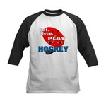 Eat Sleep Play Hockey Kids Baseball Jersey