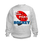 Eat Sleep Play Hockey Kids Sweatshirt