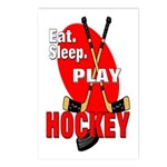 Eat Sleep Play Hockey Postcards (Package of 8)
