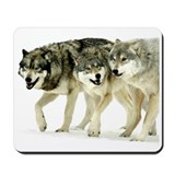Wolf Trio Mousepad