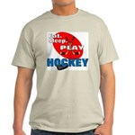 Eat Sleep Play Hockey Ash Grey T-Shirt