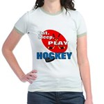 Eat Sleep Play Hockey Jr. Ringer T-Shirt