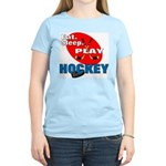 Eat Sleep Play Hockey Women's Pink T-Shirt