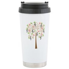 Music Treble Clef Tree Gift Ceramic Travel Mug