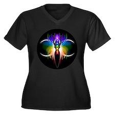 Chakra Goddess Women's Plus Size V-Neck Dark T-Shi