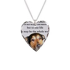 Cute Dog saying Necklace