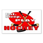 Eat Sleep Play Hockey Rectangle Sticker