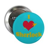 I heart Sherlock 2.25&quot; Button