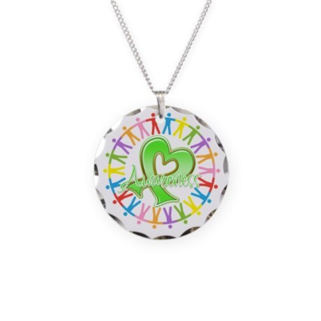 Non-Hodgkins Lymphoma Unite Necklace Circle Charm