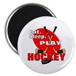 Eat Sleep Play Hockey Magnet