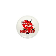 Eat Sleep Play Hockey Mini Button (100 pack)