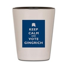 Keep Calm and Vote Gingrich Shot Glass