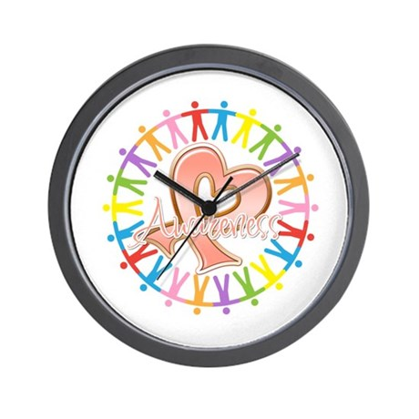 Uterine Cancer Unite in Awareness Wall Clock