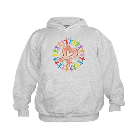 Uterine Cancer Unite in Awareness Kids Hoodie