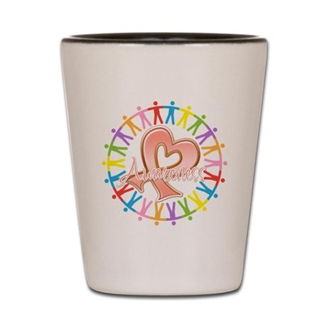 Uterine Cancer Unite in Awareness Shot Glass