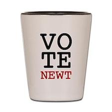 Vote Newt Gingrich Shot Glass