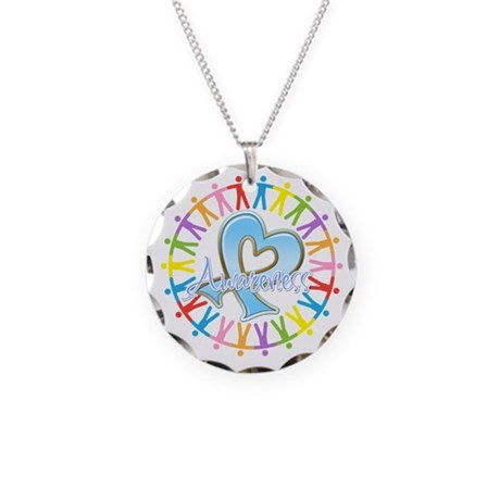 Thyroid Disease Unite Necklace Circle Charm