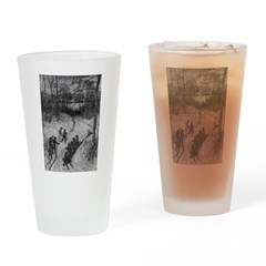 1905 Sledding Drinking Glass