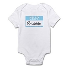 Hello, My Name is Braden - Infant Bodysuit