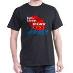 Eat Sleep Play Hockey Black T-Shirt
