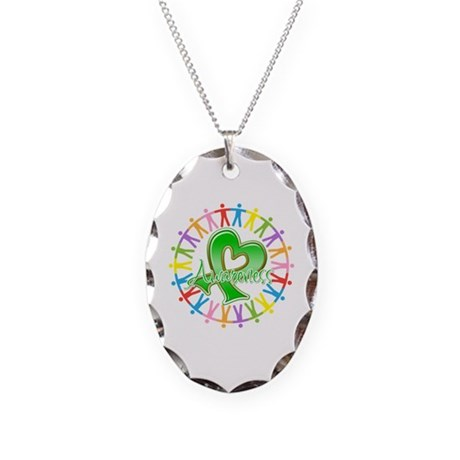 TBI Unite in Awareness Necklace Oval Charm