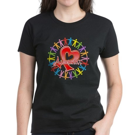 Stroke Disease Unite in Awareness Women's Dark T-S