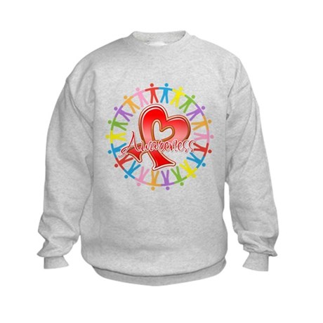 Stroke Disease Unite in Awareness Kids Sweatshirt
