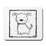 Cute Dog (b&w) Mousepad