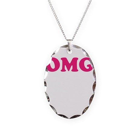 OMG Necklace Oval Charm