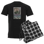 1907 Christmas Cherubs Men's Dark Pajamas