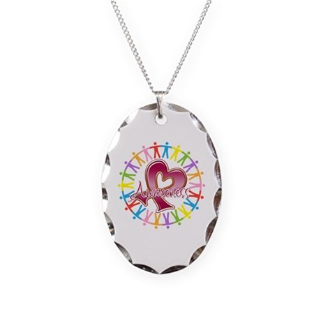 Sickle Cell Anemia Unite Necklace Oval Charm