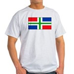 Groningen Gronings Blank Flag Ash Grey T-Shirt