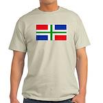 Groningen Gronings Blank Flag Ash Grey T-Shirt