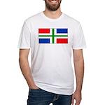 Groningen Gronings Blank Flag Fitted T-Shirt