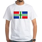 Groningen Gronings Blank Flag White T-Shirt