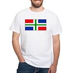 Groningen Gronings Blank Flag White T-Shirt