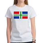 Groningen Gronings Blank Flag Women's T-Shirt